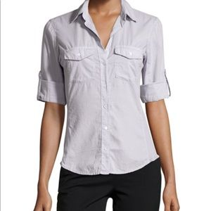 James Perse Contrast Panel Button Down Shirt